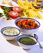 Various pasta sauces