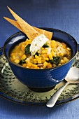 Bean and sweetcorn soup