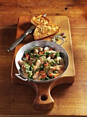 Lamb stew with kale