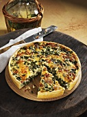 Turnip greens quiche