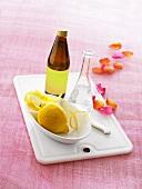 Rose water and lemons