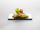 A porcini mushroom, parsley infusion and Pata Negra (molecular gastronomy)