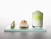 Three textures of stockfish (molecular gastronomy)
