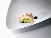 Langoustines with allspice and grated cucumber