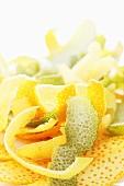 Orange, lemon and lime zest