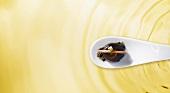 Balsamic vinegar balls with olive oil (molecular gastronomy)