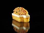 Krill tatar with jellied almond milk