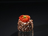 Cream cheese truffle with Sardinian tomatoes
