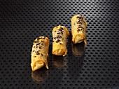 Cajun-style fried duck rolls