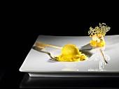 Chocolate explosion, orange (molecular gastronomy)