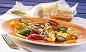 Colourful vegetable carpaccio