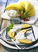 Honey banana with quark cream