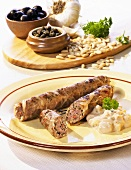 Grilled veal sausage
