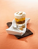 Peach and Amaretto layered dessert