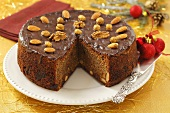 Christmas spiced cake with poppy, dried fruit and nuts