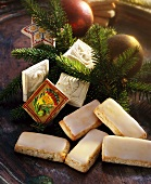 Belgrader Brot (spiced fruit bread) and Springerle (embossed German Christmas biscuits)