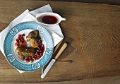 Pigeon breast with pomegranate sauce