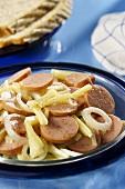 Swabian Lumpasupp (sausage salad with cheese)