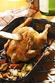 Mistkratzerle (Swabian stuffed chicken)