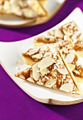 Almond-toffee slices
