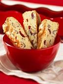 Cranberry-nut slices