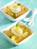 Apple and pear dessert with ginger