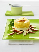 Panna cotta with apples
