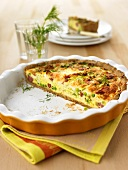 Chinese cabbage quiche