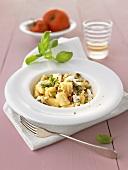 Gnocchi with mushroom pesto