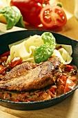Pheasant breast á la Rheingau with pepper sauce