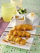 Chicken tikka masala kebabs