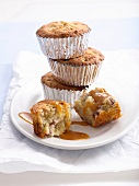 Buttermilk cupcakes with figs and walnuts