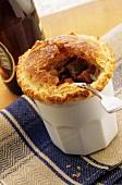 Beef pie, mushrroms and ham (England)