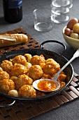 Meatballs with pumpkin sauce