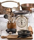 Old-fashioned kitchen utensils