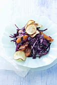 Red cabbage salad with oranges