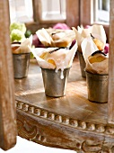 Vanilla cupcakes with a glaze
