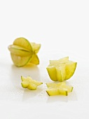 Star fruit, whole and sliced