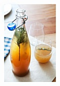 Ginger drink with rosemary