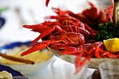 Crayfish on a serving platter