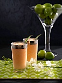 Melon Madness (melon cocktail with tequilla)