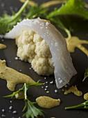 Cauliflower and sea bream sushi