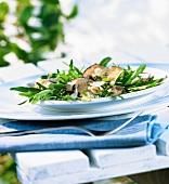 Rucola-Steinpilz-Salat
