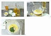Making herb vinaigrette