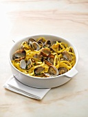 Tagliatelle with carpet shell clams