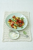 Ricotta gnocchi with tomatoes and Parmesan