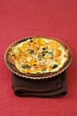 Goat's cheese and sweet potato tart