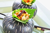Rice salad with pork skin, mango and chillies (Thailand)