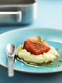 Wild red salmon with grapefruit and fennel seeds