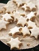 Cinnamon stars on doily